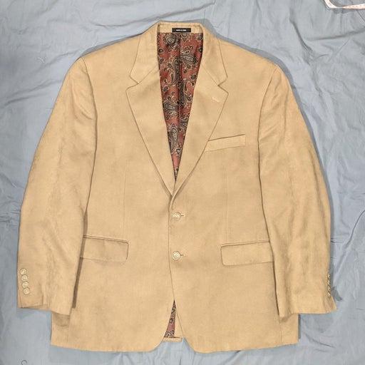 Ralph Lauren classic fit tan faux suede