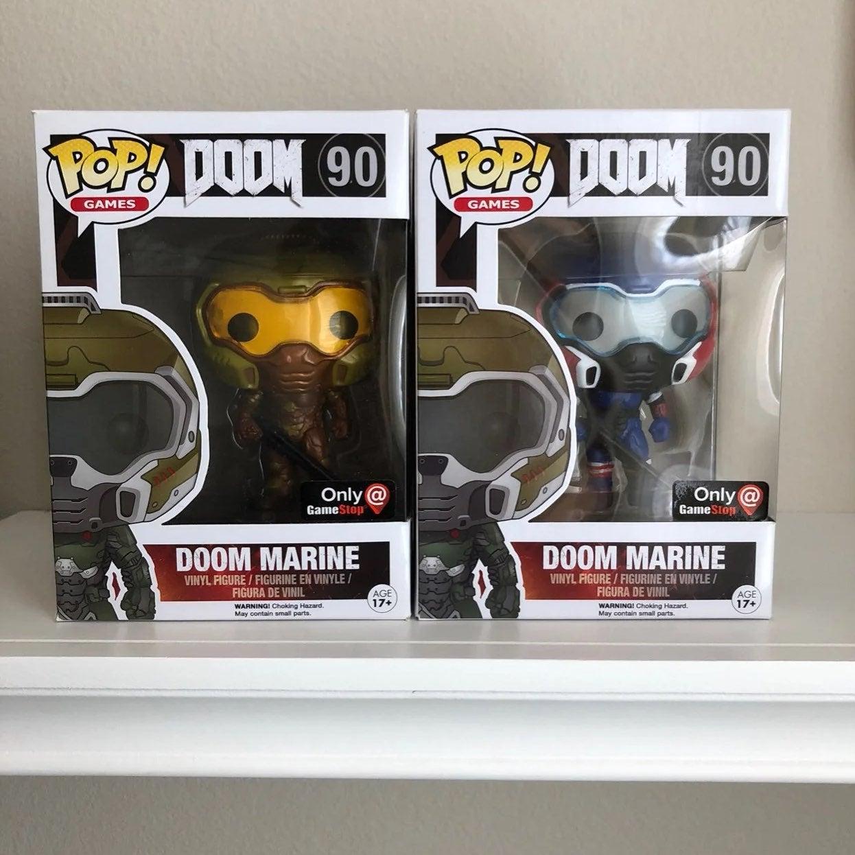 Pop doom space gold marine 90 gamestop