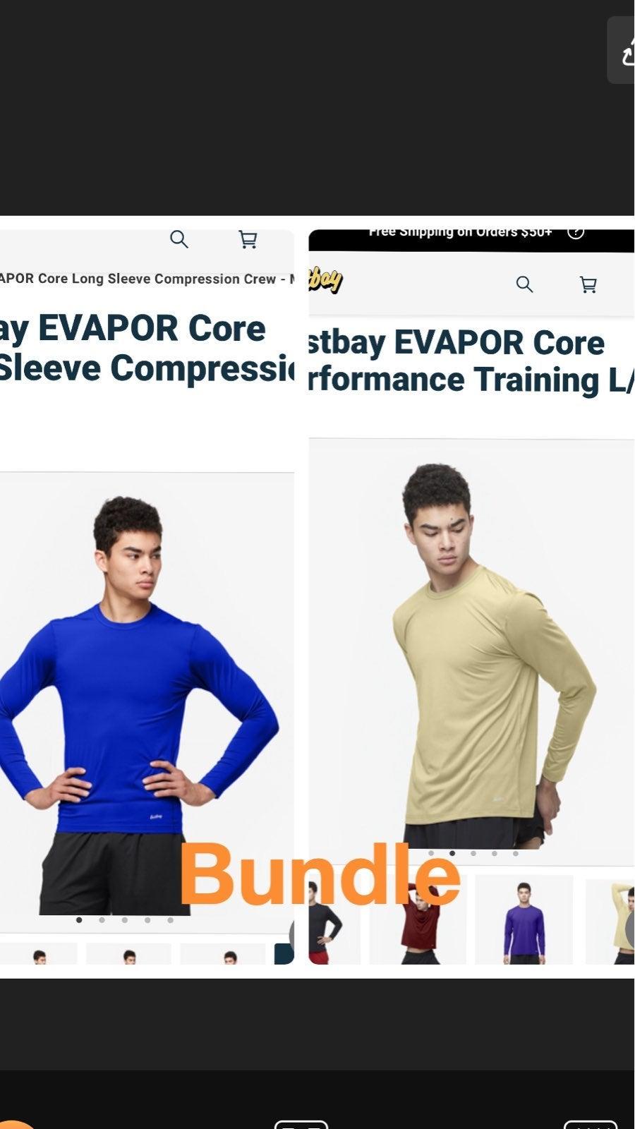 TWO mens Eastbay XL dri fit shirts