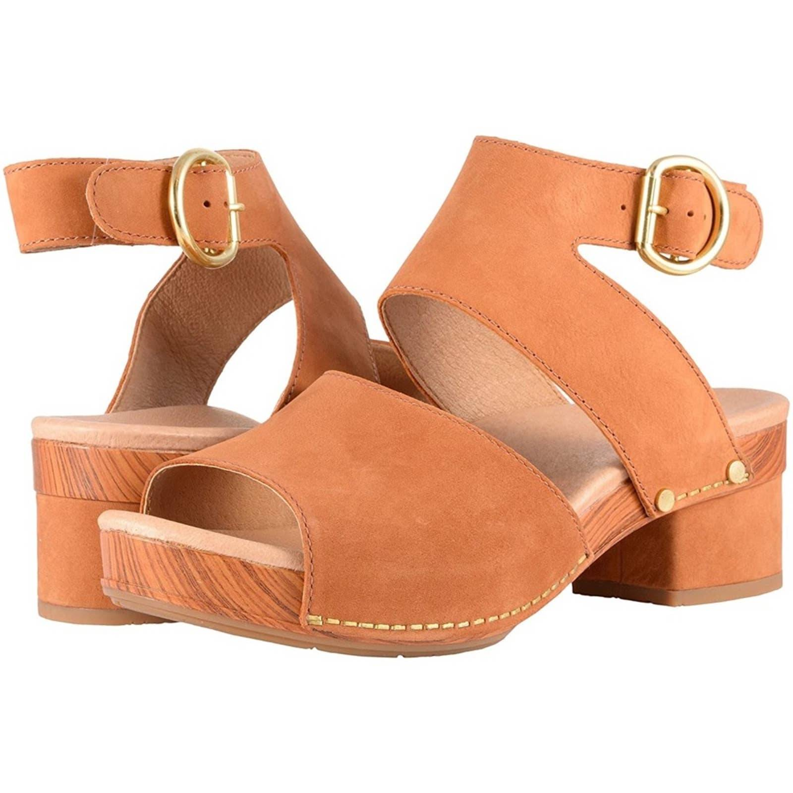 DANSKO Minka Leather Sandals Camel