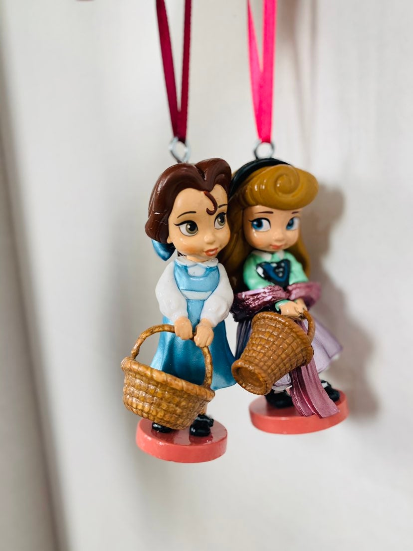 Disney ornaments Bell and Aurora