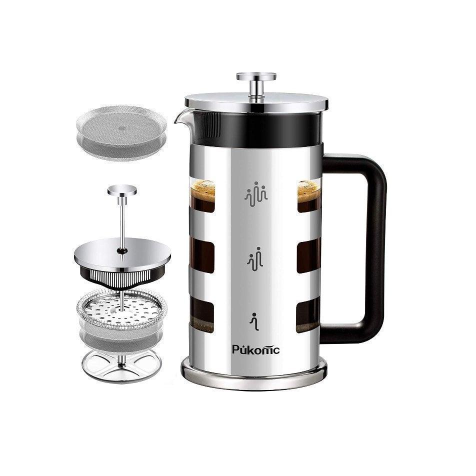 Pukomc French Press Coffee Tea Maker New