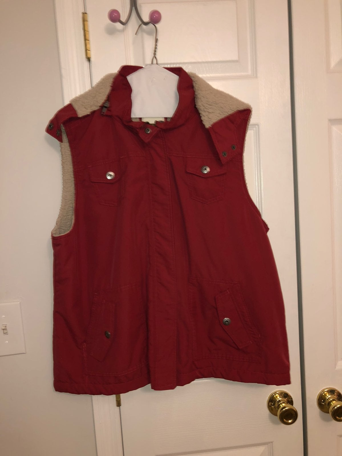 Womens red vest