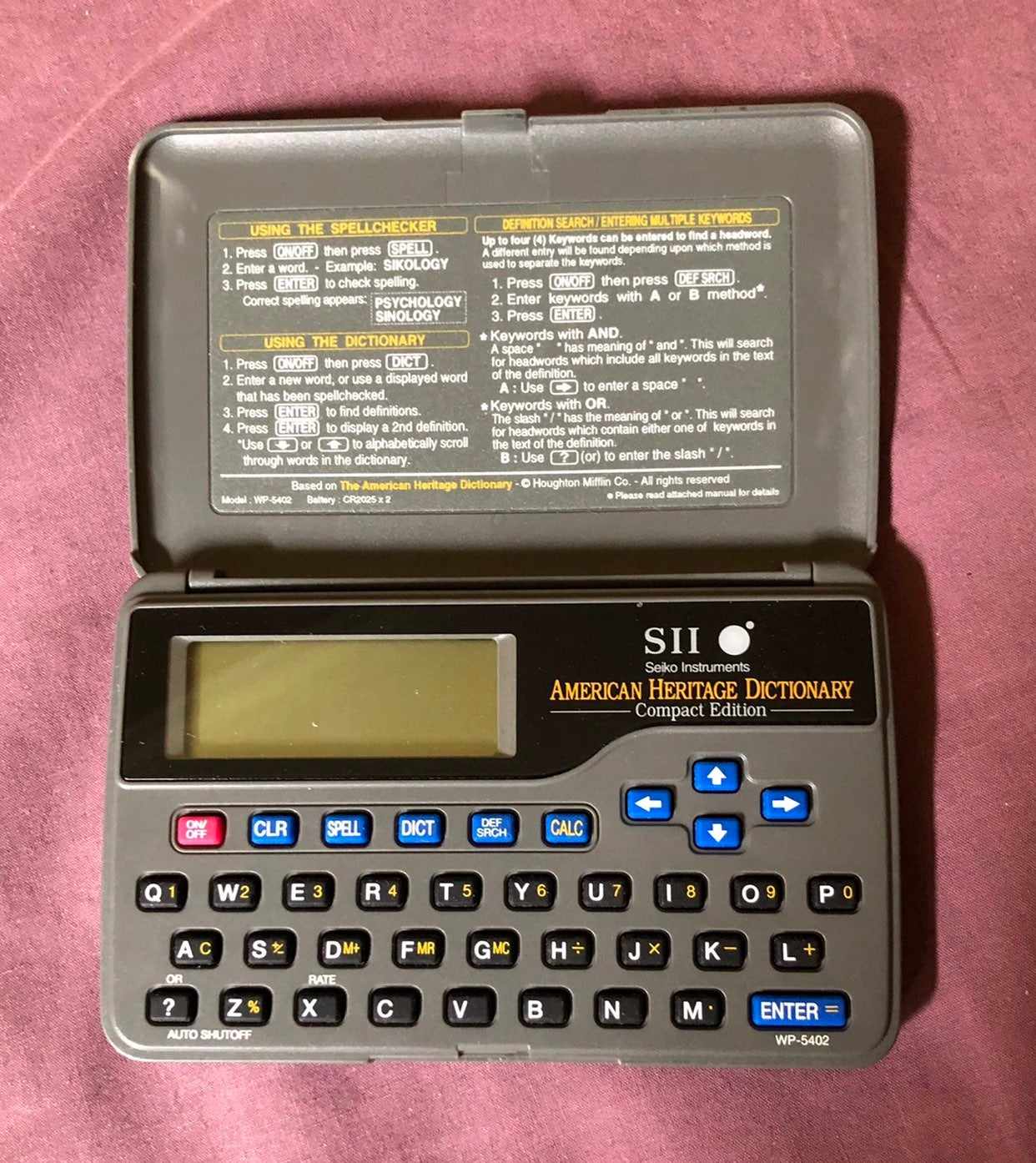 American Heritage Electronic Dictionary