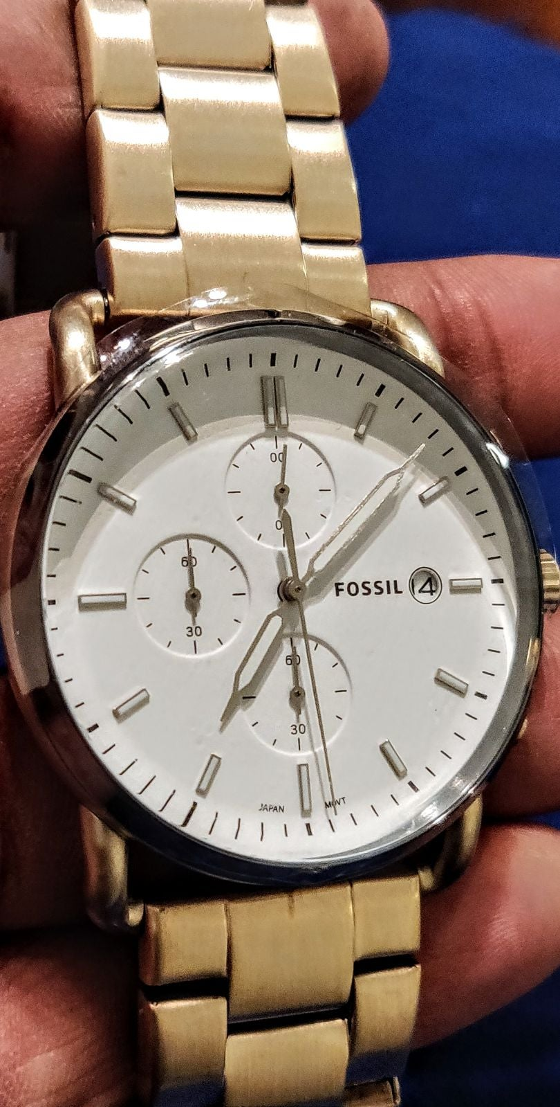 Brand New Fossil Mean Commuter Watch w t
