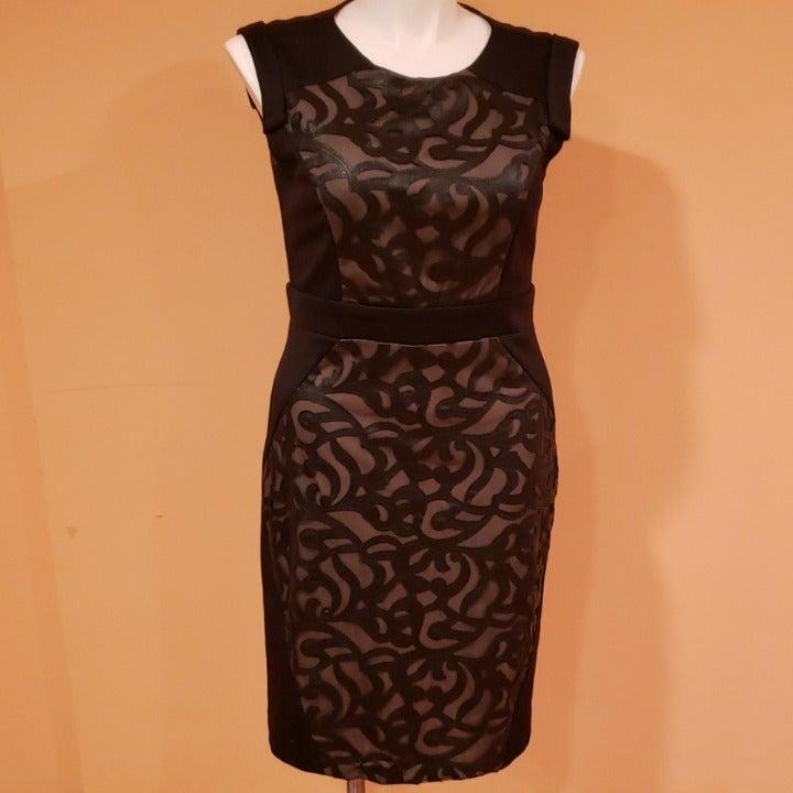 R&M Richards dress with mesh design NWOT
