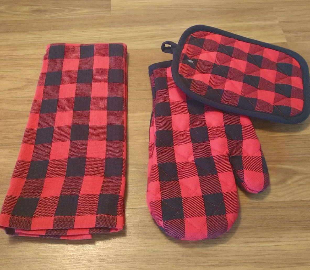 Quality Farmhouse Kitchen Towel Set/3