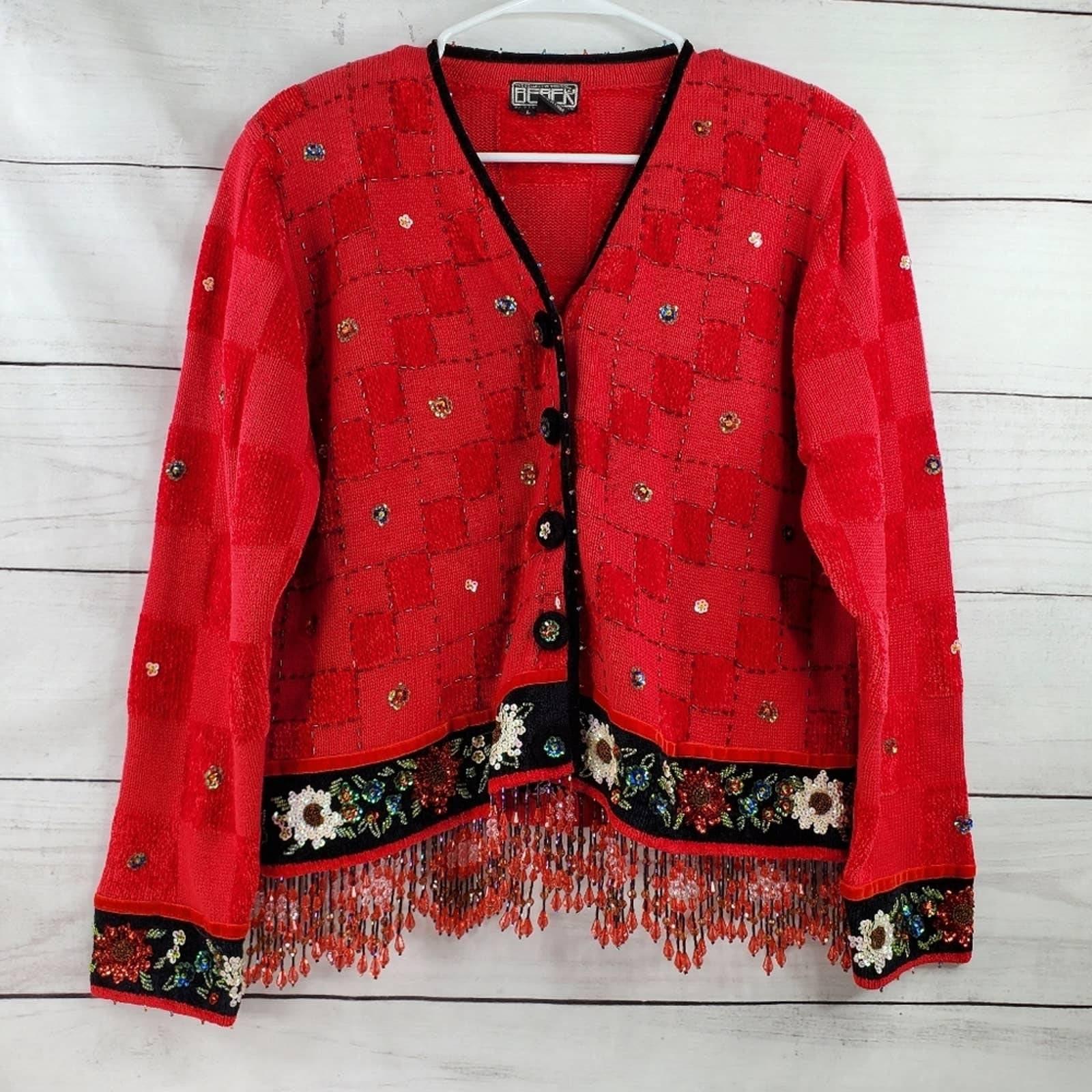 Vintage Berek EUC Beaded Sequin Sweater