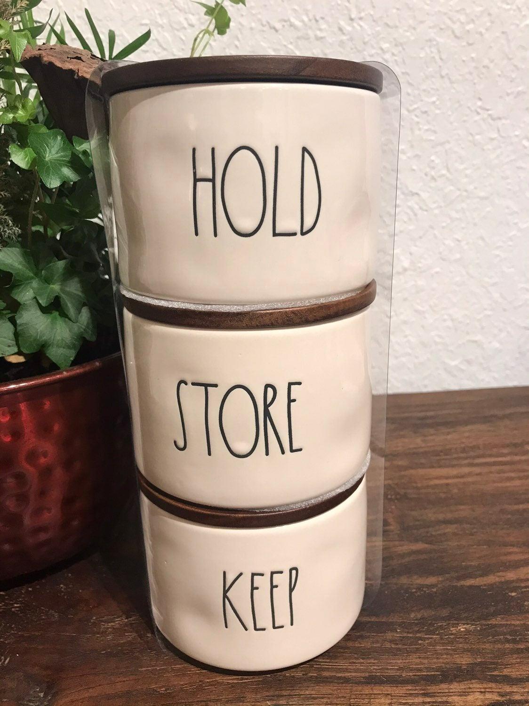 Rae Dunn Hold Store Keep