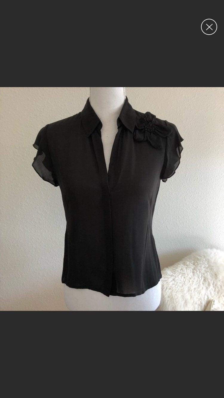Max Studio 100% Silk Blouse small