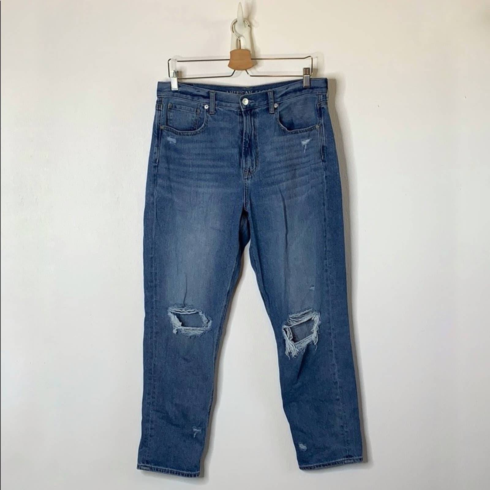American Eagle Ripped Mom Jeans 12