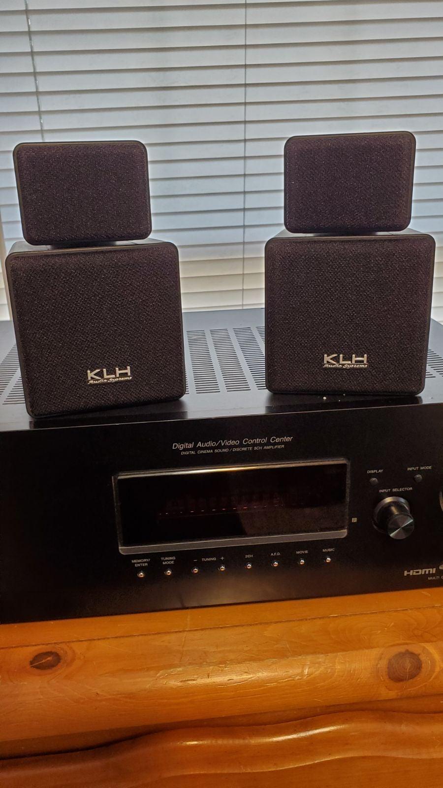 KLH cube speakers