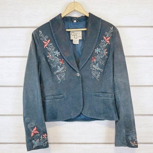 Cripple Creek Leather Blue Jacket