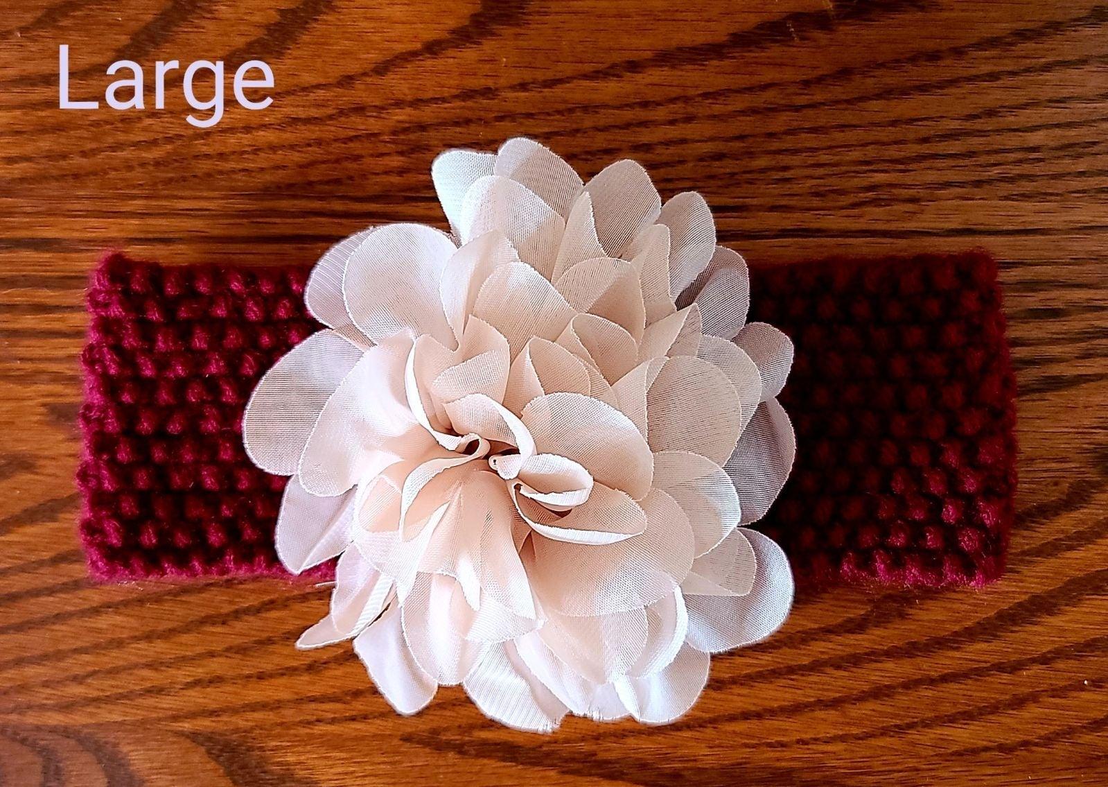 Maroon Burgundy Knit Baby Headband with