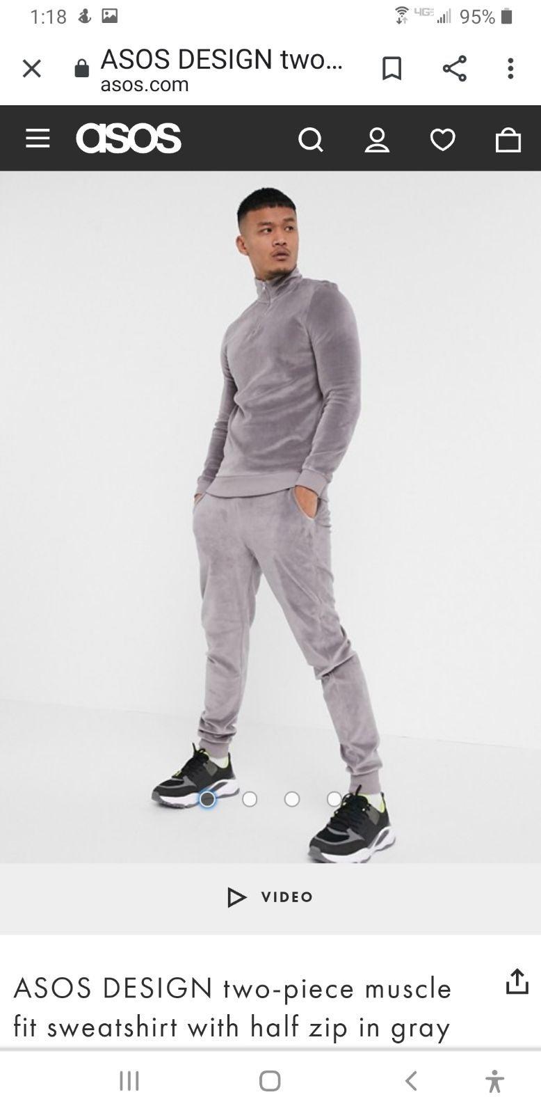ASOS Velour Sweatshirt and Jogger - NEW!
