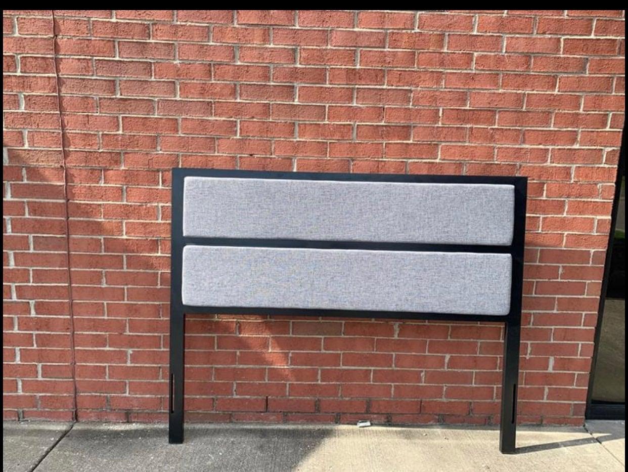 Queen grey Upholstered  Headboard