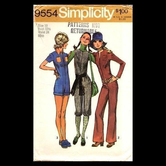 Simplicity Jumpsuit Pattern #9554