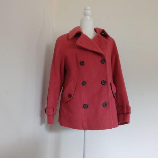 NWOT TALBOTS WOMENS WOOL Pea Coat