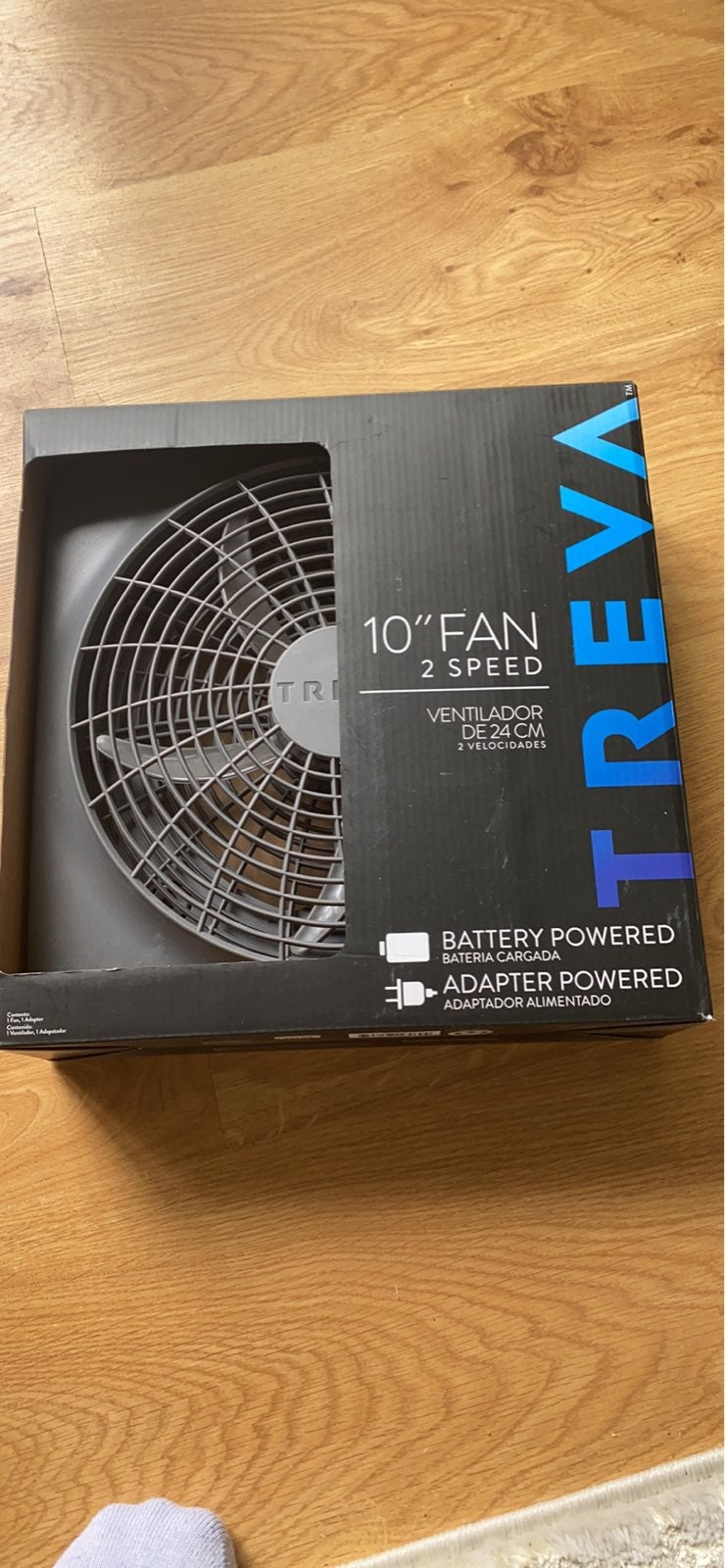 2 speed quiet fan battery operated or pl