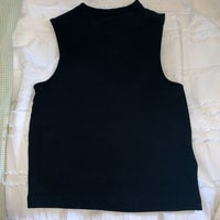 7b24bf9db101a1 Black Crop Top. H M. XS