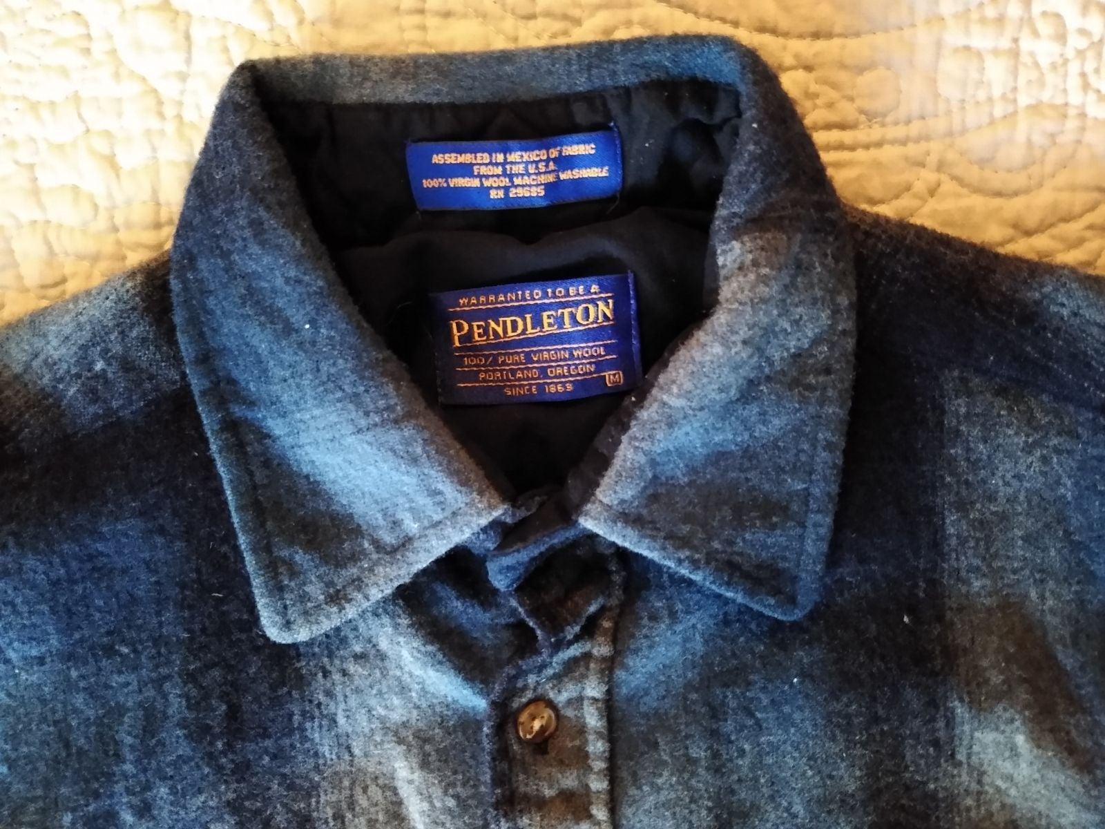 Pendleton Wool Flannel Shirt Men's M