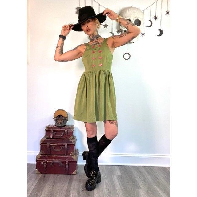 Hawks chartreuse babydoll Dress