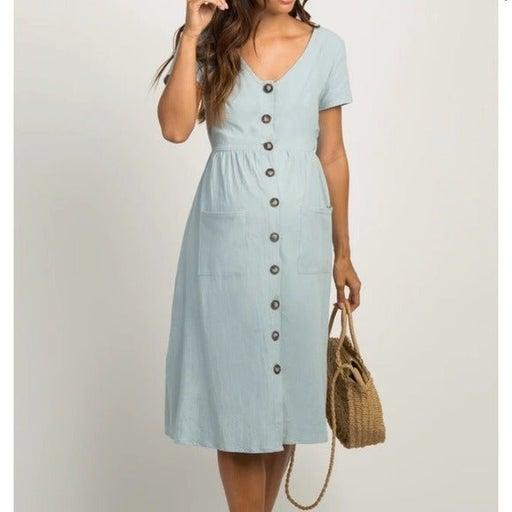 Light Blue PinkBlush Maternity Dress