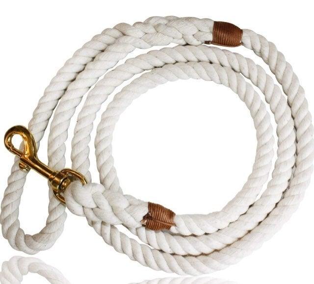 GRAY 5ft Rope Dog Leash