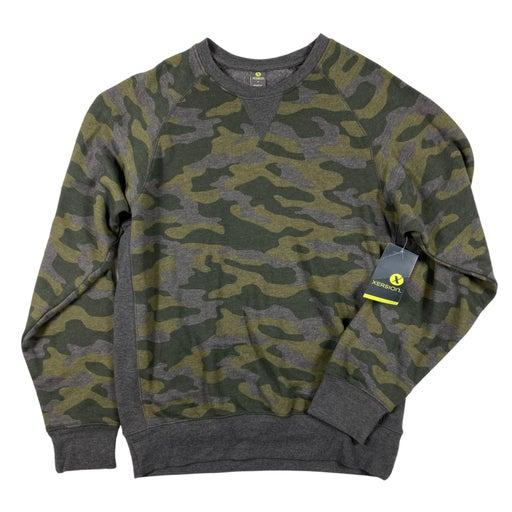 S Men Olive Camo Long Sleeve Sweatshirt