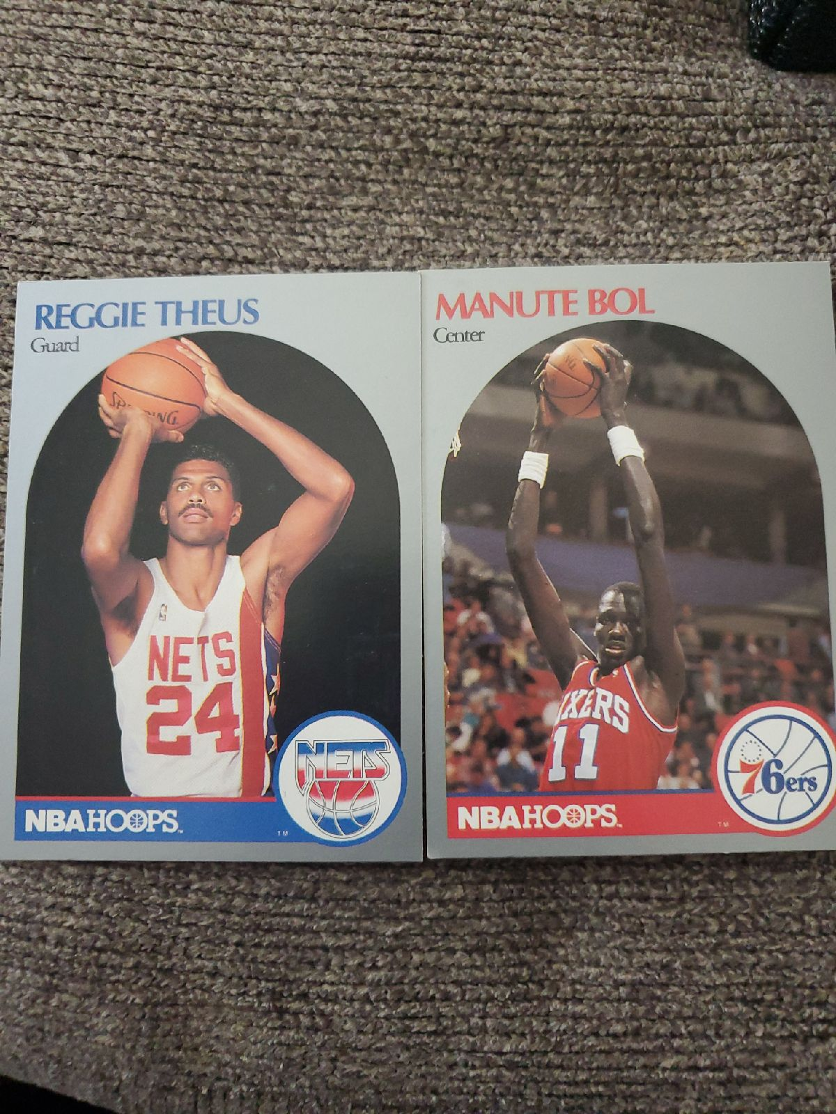 80s NBA Hoops trading cards