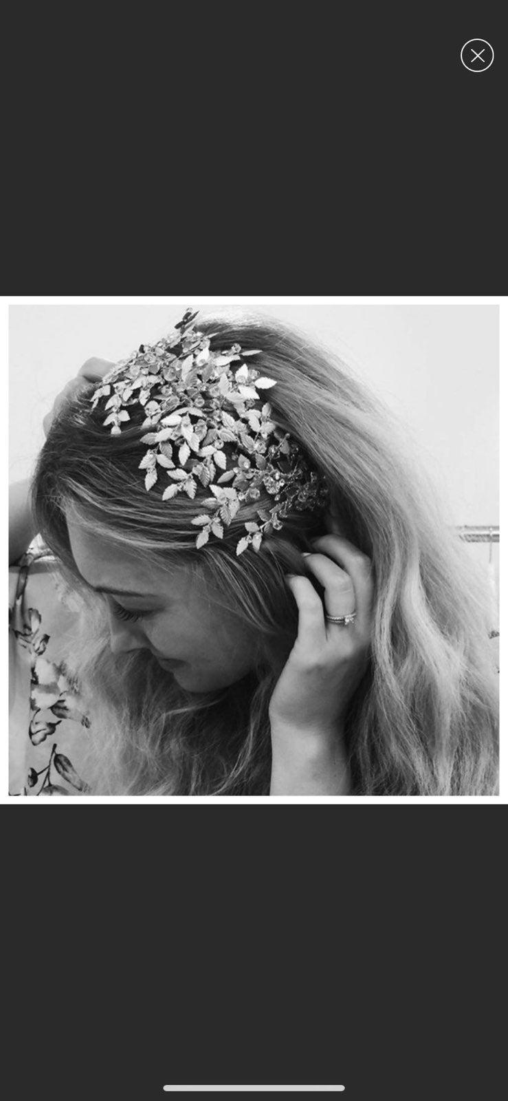 Untamed Petals Bridal Leaf Headpiece