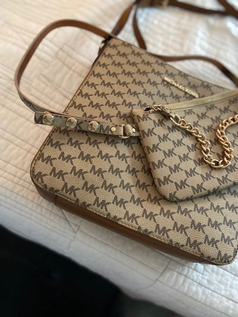 Michael Kors crossbody purse with MK bel