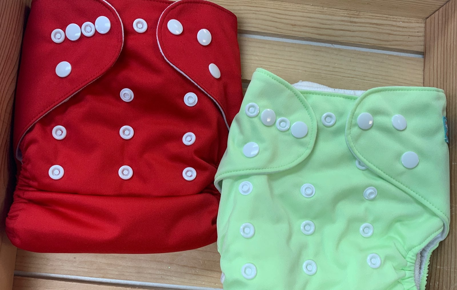 Two One Size Adjustable Clorh Diapers