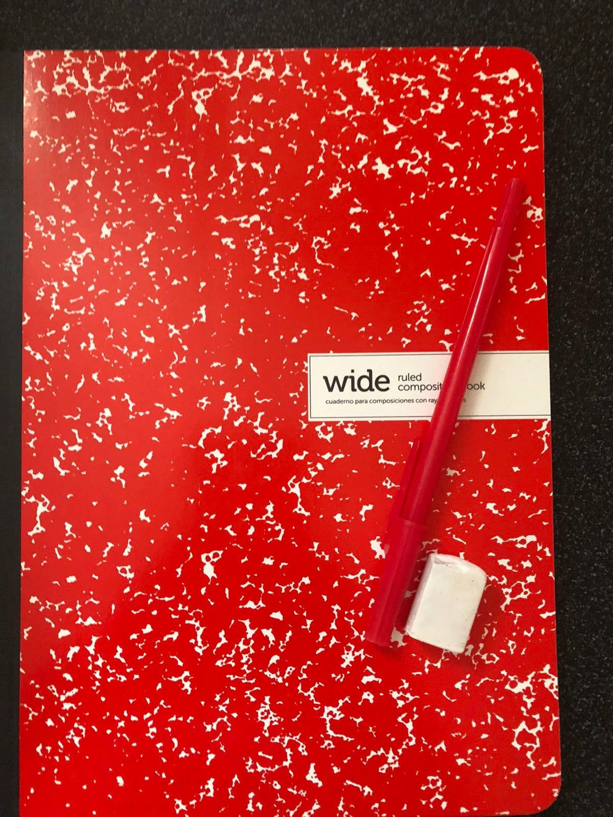Simple red notebook