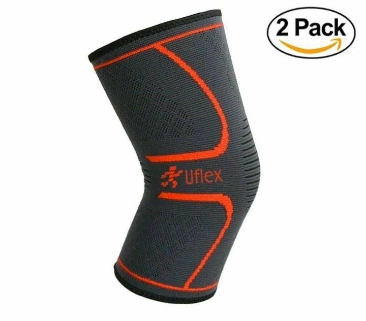2-Pack Medium Knee Compression Sleeve
