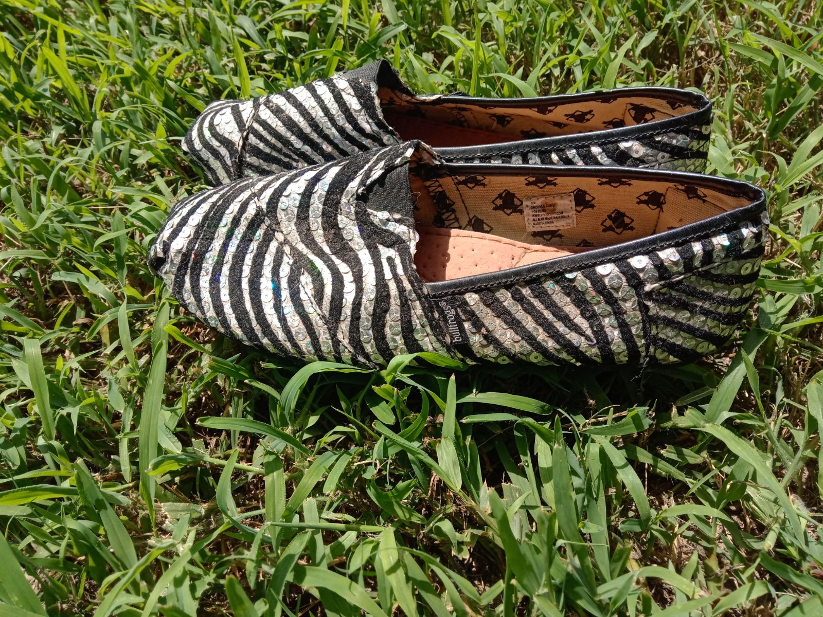 Women's Zebra Printed Flat Shoes