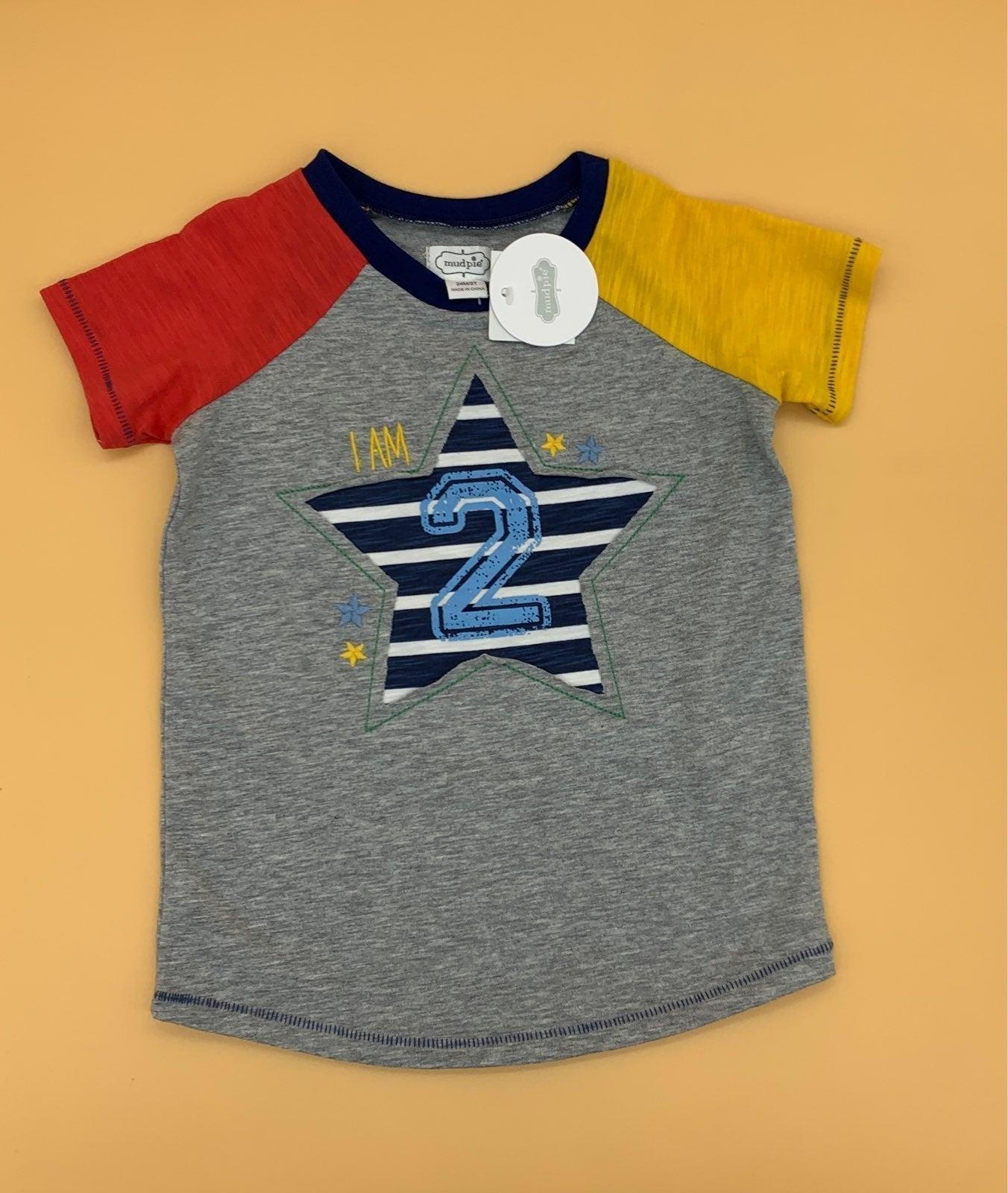 I am 2 shirt!  Mudpie - NWT 2T