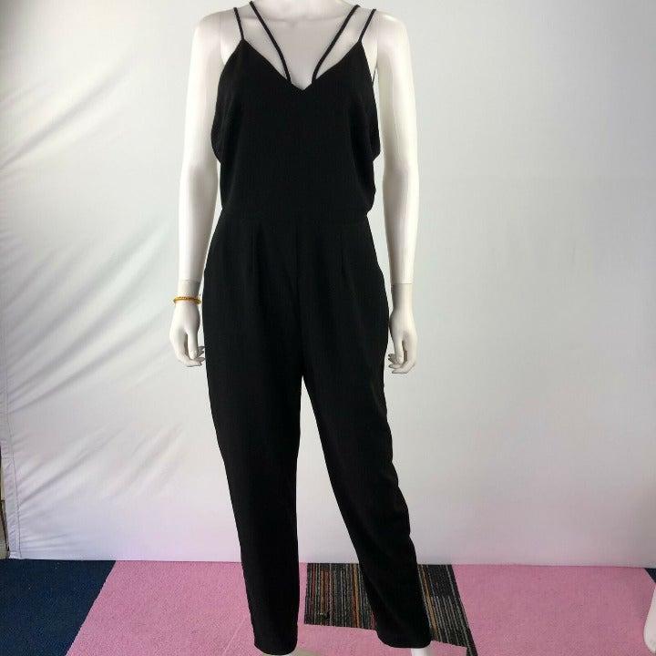 Lush Women Open Back Jumpsuit Romper
