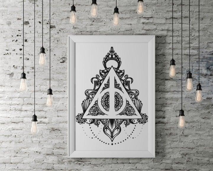 Harry Potter Deathly Hallows Wall Art