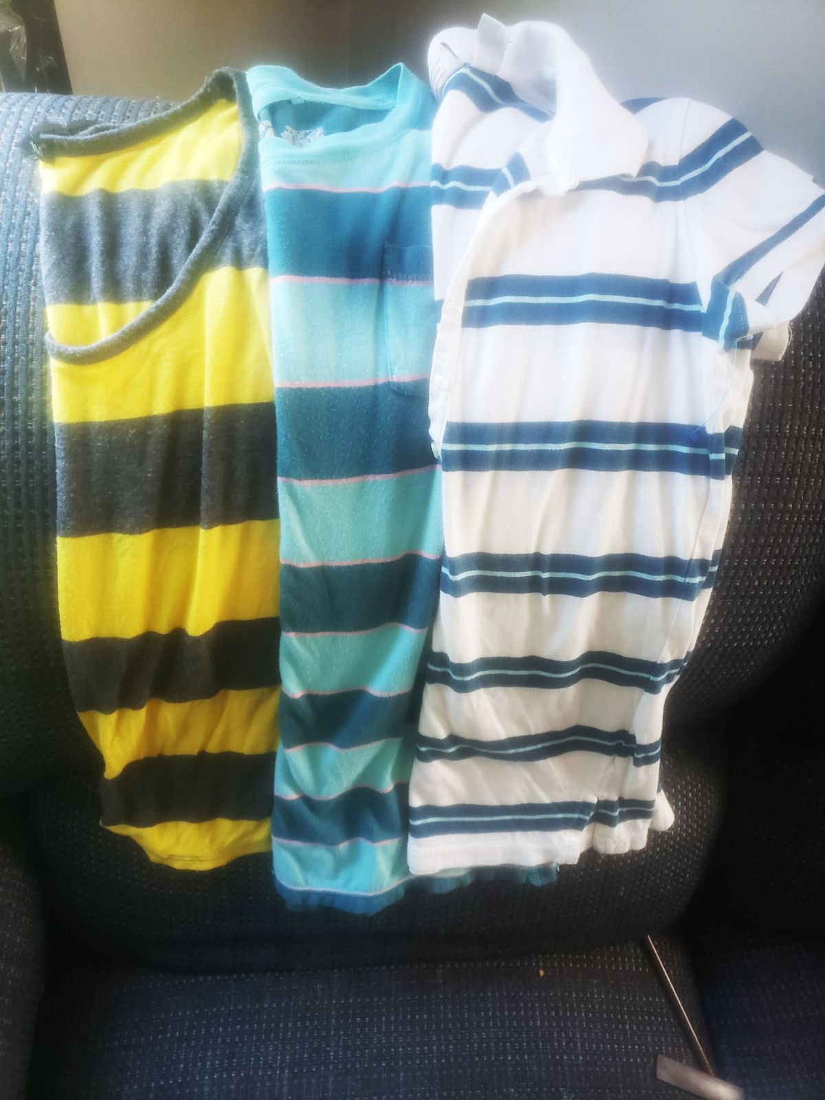 Small womens striped shirts. All for 10.