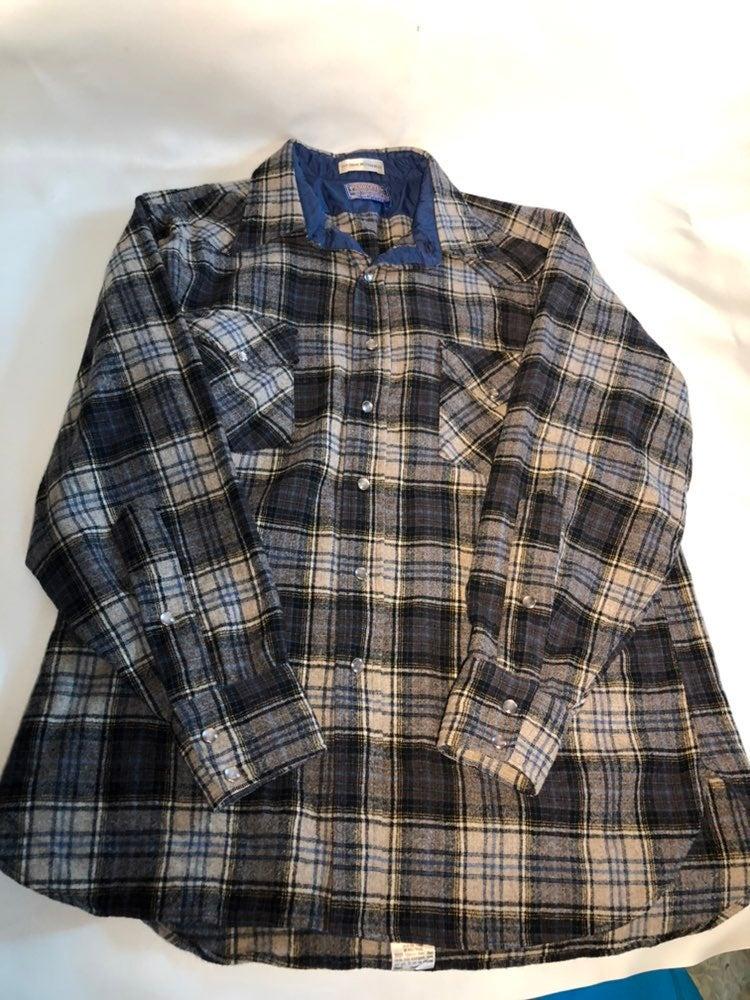Mens Pendelton Shirt XL Blue Gray