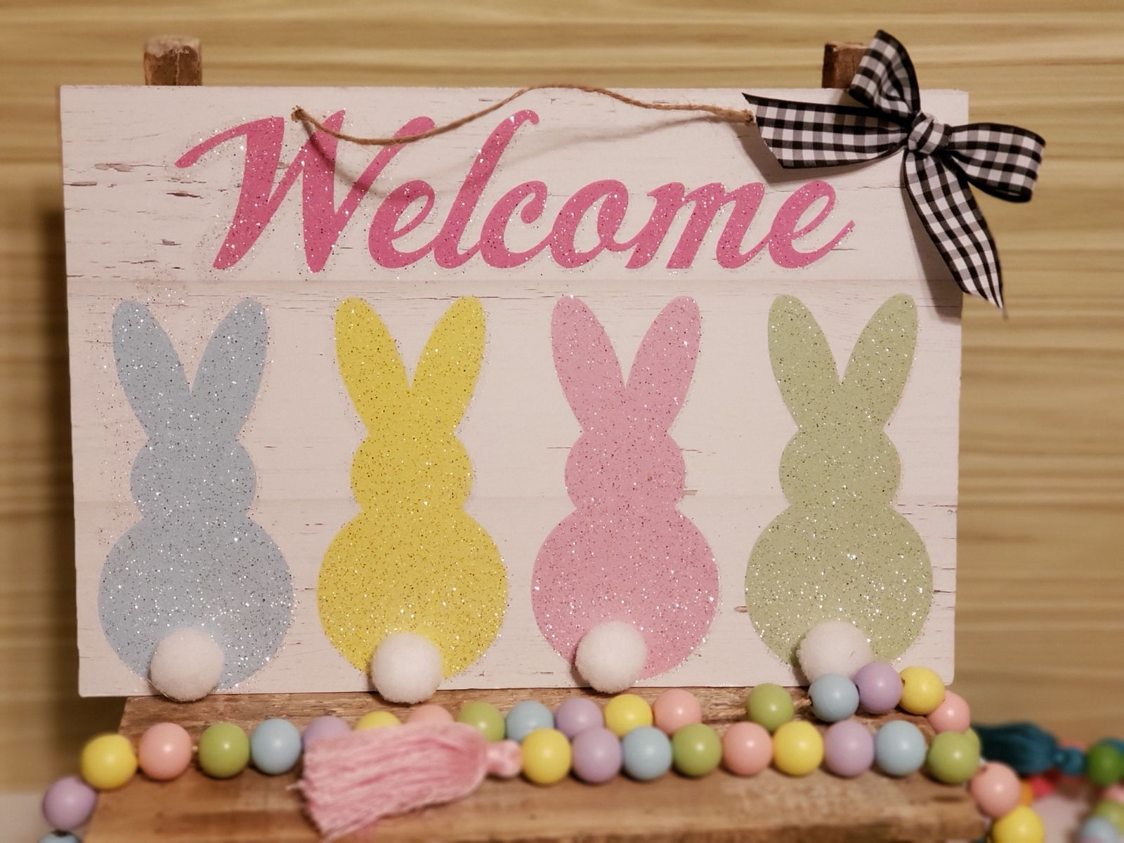 Farmhouse Easter Welcome Sign