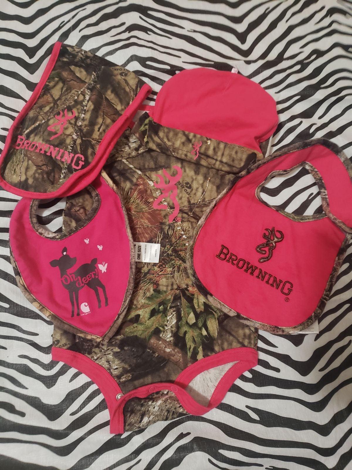 Baby girl camo set
