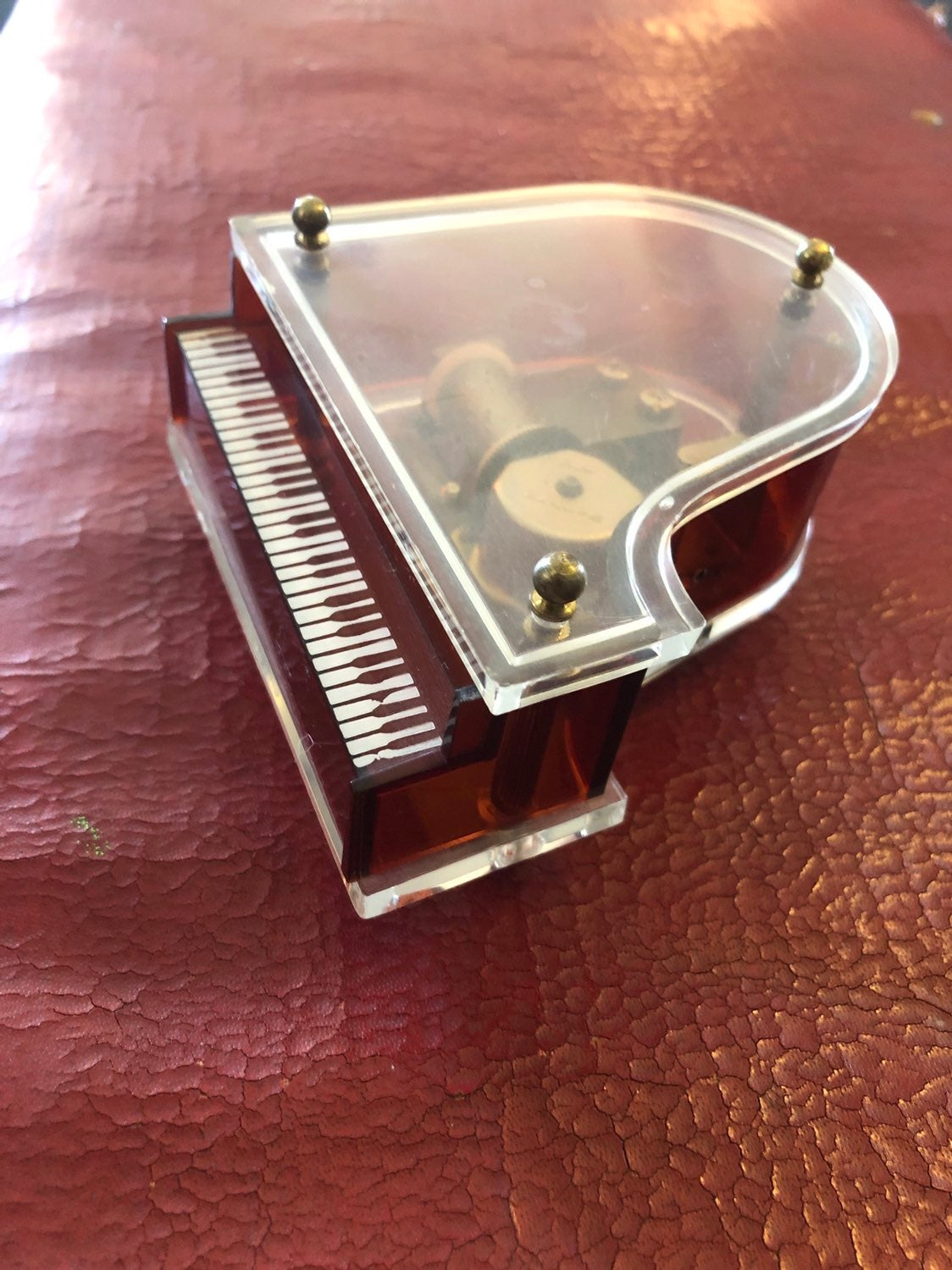 Vintage Grand Piano Music Box Lucite
