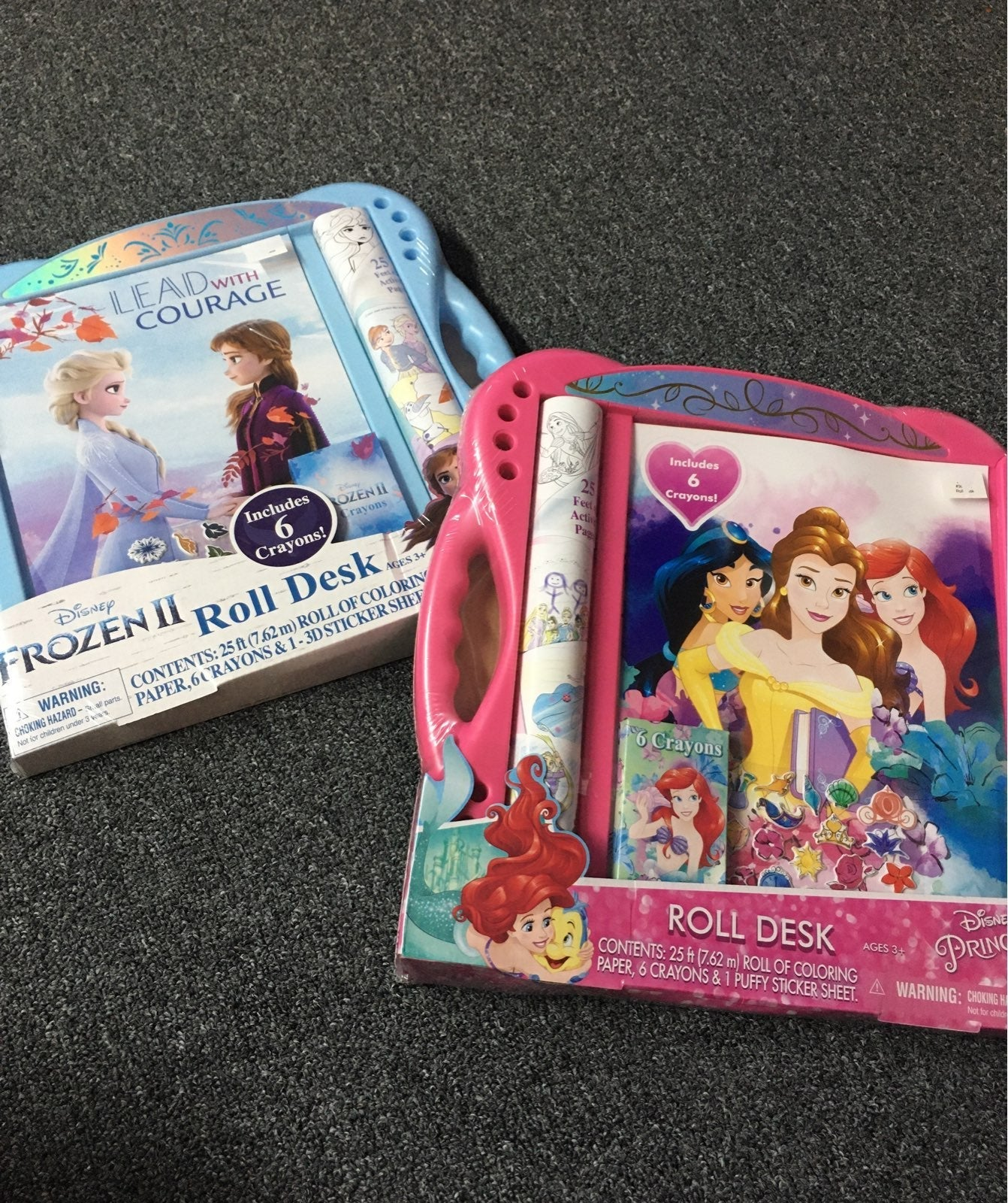 Disney Frozen 2 & princess roll desk set