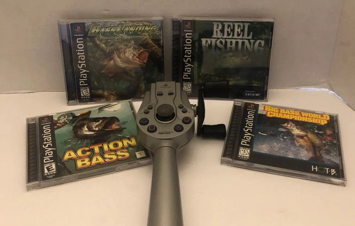 Reserved Plasttion 3 PS1/PS2 Agetec Fish
