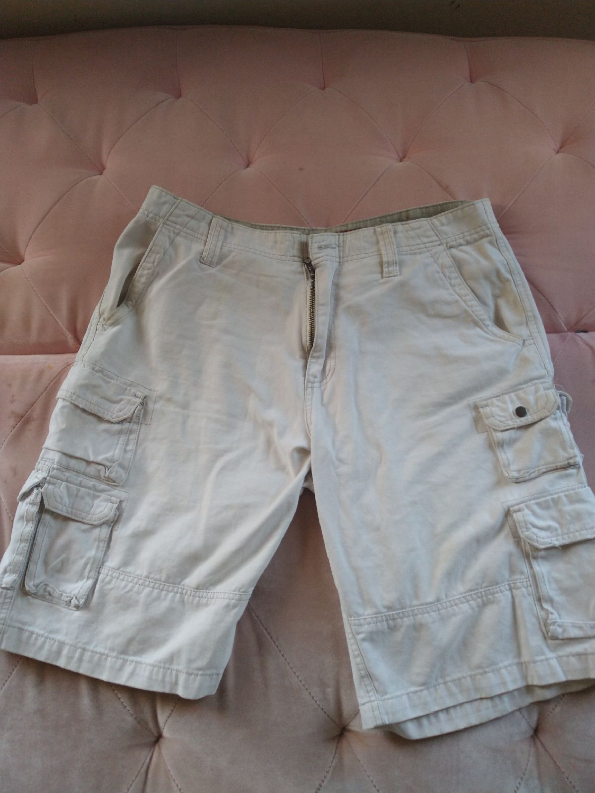 White Cargo Shorts Men