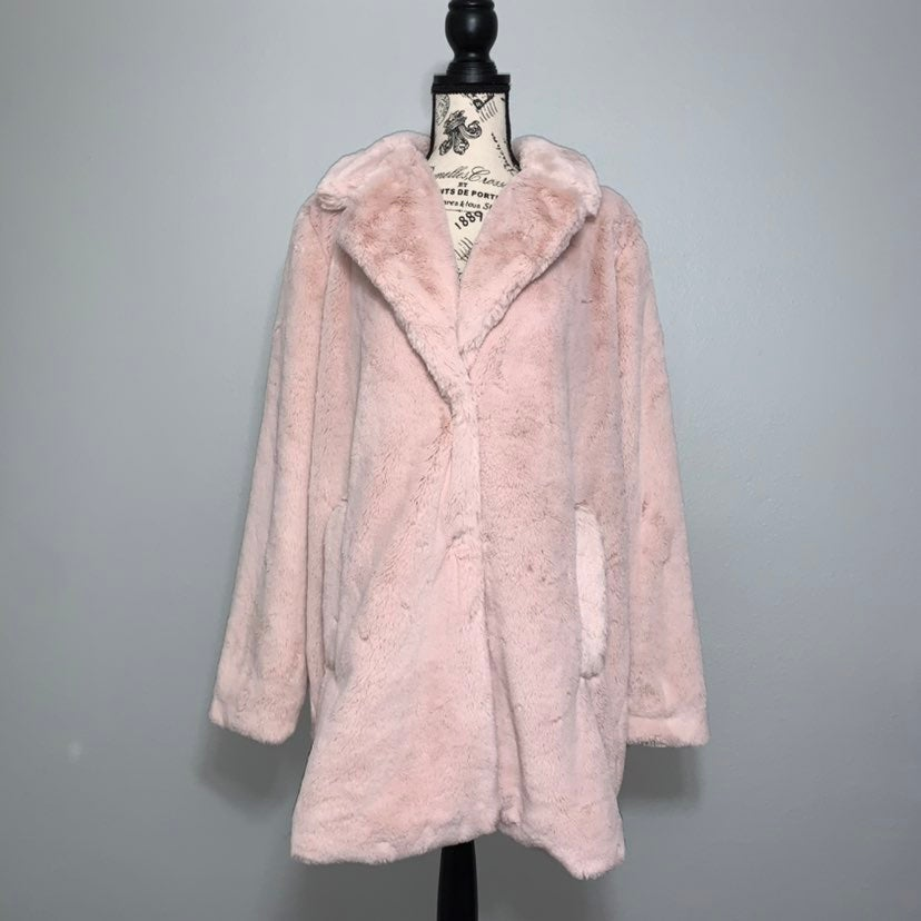 Lucky Brand Faux Fur Teddy Coat