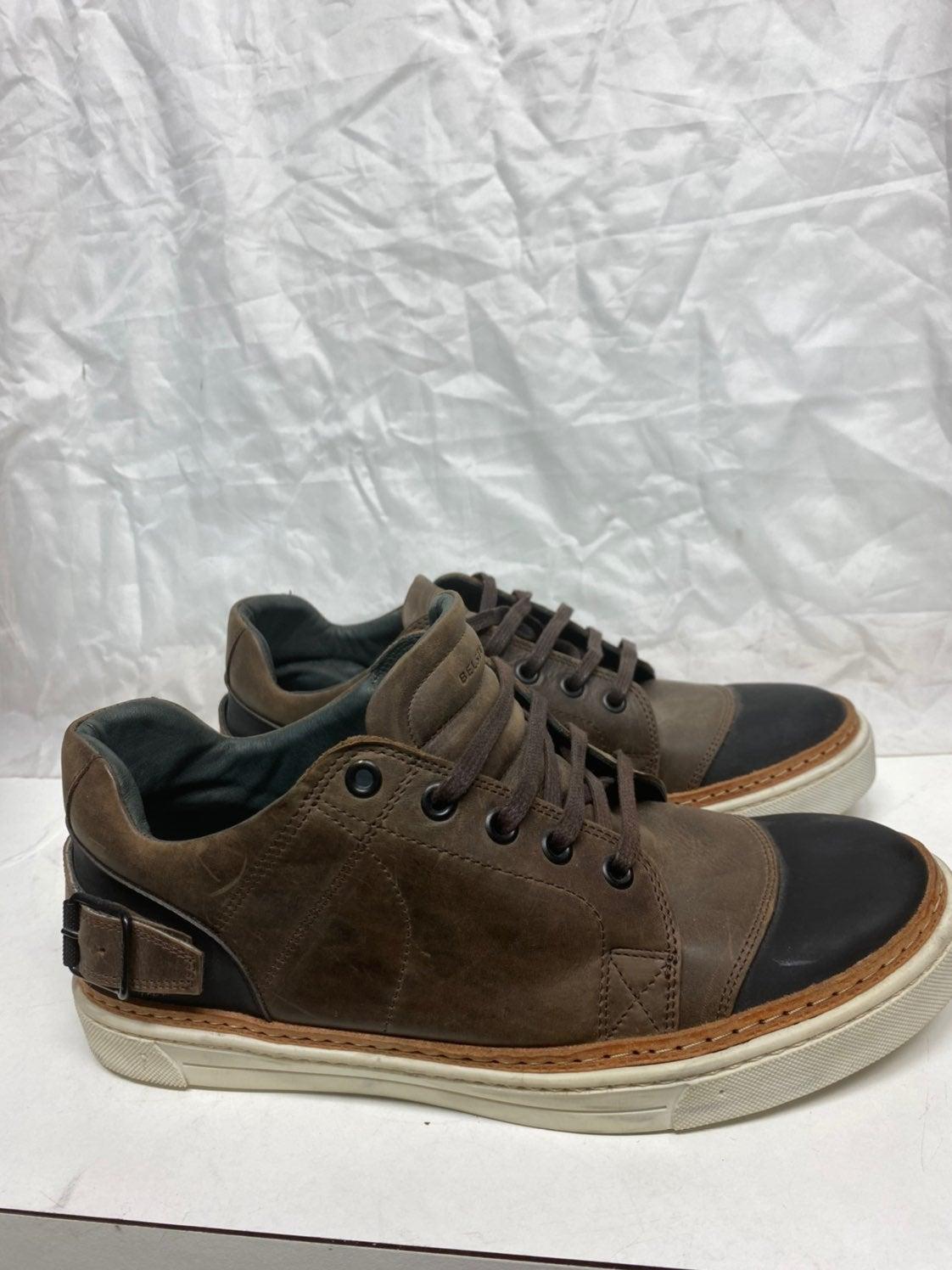 Belstaff Brown lowtop laceup sneakers