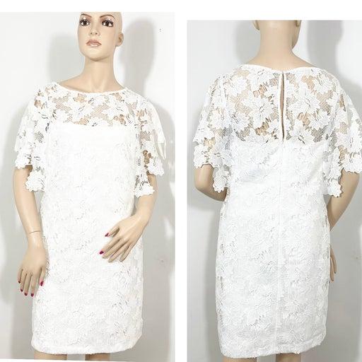 Lauren Ralf Lauren White Lace Dress 10